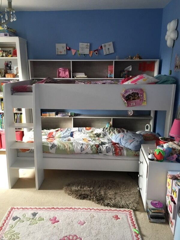 Bunkbed Parisot Tam 3 Grey White WITH Mattresses