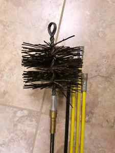 Chimney brush and 4 rods