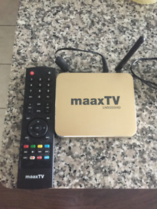 MaaxTV Box, Streams different live TV from round the world.