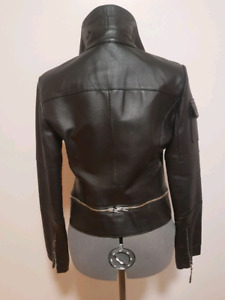 Women's leather motorcycle jacket perfect condition