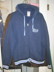 Vintage Roots Athletic Varsity Zippered Hoodie - Size Large