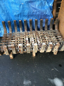 fireplace solid steel grate
