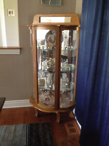 AMAZING DEAL on an Oak Curio Cabinet - Excellent Condition!!
