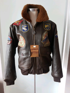SCHOTT WINGS OF GOLD SZ XSMALLPATCH JACKET PAID $1150 $600 only