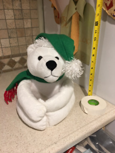 Huggable Polar Bear Stuffed Toy $20