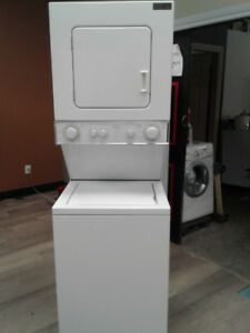 "washer whirlpool 24"" stackable white"