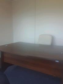 Executive walnut office desks