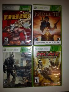 4 jeux XBOX 360 : Borderlands, Fable III, Crysis2, MX vs ATV et