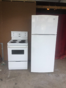 Apartment size white fridge and Stove for sale