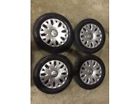 Citroen Picasso 4 steel wheels and tyres