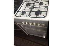 White leisure 55cm gas cooker grill & oven good condition with guarantee
