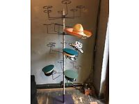 Metal sturdy hat shop display stand , ideal for festivals