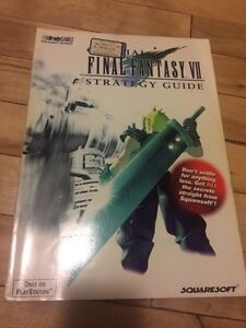 Final Fantasy VII guide BOOK livre strategie square soft rpg