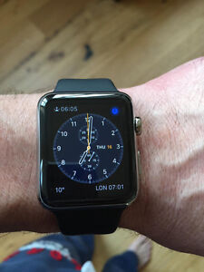 APPLE WATCH 38MM WITH MILANESE, BLACK STEEL, & BLACK SPORTS BAND