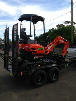 EXCAVATOR HIRE DIY 1.7tonne kubota u17 1-2 tonne zero swing  Condell Park Bankstown Area Preview
