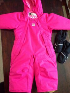 Perfect condition MEC hot pink toaster snowsuit - 12 months