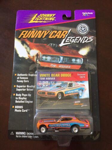 Johnny Lightning Funny Car Legends White Bear Dodge 1:64,Die