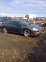 "2004 Mitsubishi Eclipse gt with 24"" light bar"