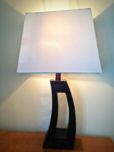 Desk Lamp with wooden stand (bulb included)