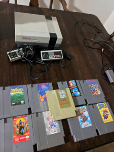 Nintendo NES system with 9 games