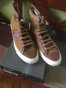 MEN'S PF-FLYERS LEATHER HIGH TOP RUNNERS 10/43 NEW IN THE BOX