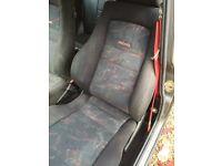 Classic mini Recaro seats with mini fixtures