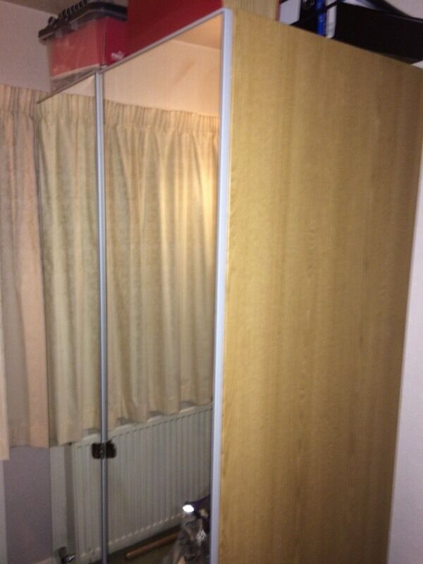 Oak effect wardrobe and sliding buy sale and trade ads for Double mirror effect