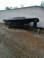 14' boat and trailer