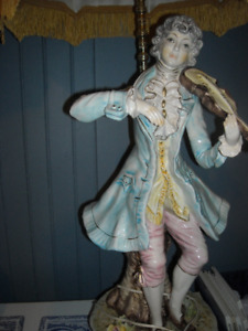 lampes de table Capodimonte Italy lamps personnages