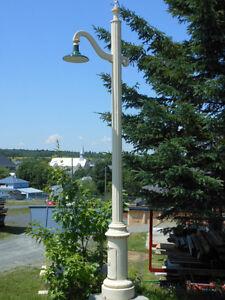 Lampadaire antique de 16 pieds