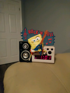 Sponge Bob square pants rock N roll alarm clock
