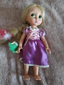 Disney princess rapunzel hard doll