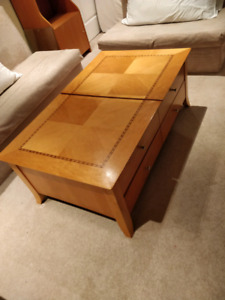 Wood Coffee Table and Side Table