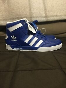 Adidas Men Shoes Size 13, Brand New, White/Electric Blue
