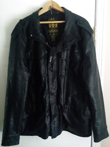 BNWT Men's Buffalo David Bitton Faux Leather Jacket XXL