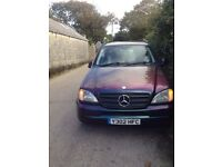 Merceds ML spares repairs one off paint work needs TLC