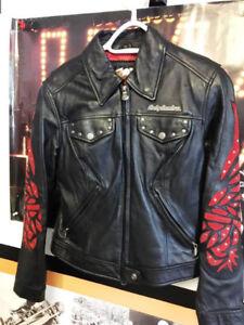 Harley Davidson jacket cuir femme