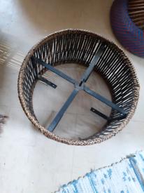 Light shade, bamboo on circular steel frame