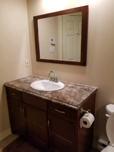 Bathroom vanity with sink and faucet for sale