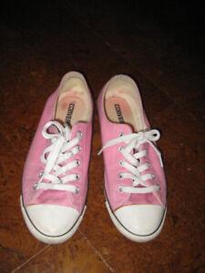 Ladies Pink Converse Sneakers