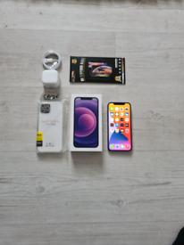Rrp £829 1 Week Old Iphone 12 5G Bundle Unlocked 64GB Purple I Phone