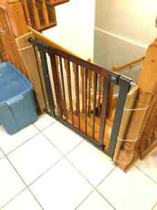 Brica Wood & Steel Designer Baby Gate  - 2 Available ($40 EACH)