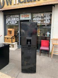 Black tall frost free fridge freezer with drinks dispenser £150