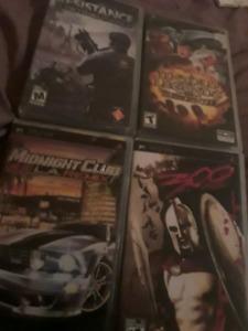 Plusieurs jeux de psp