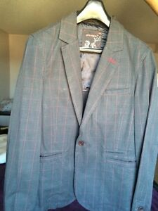 Prologue Grey with Red stripes jacket -Size L
