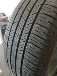 4 pneus été 225/55R17 avec mags ACURA 5 trous
