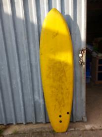 Swell foam surfboard 7ft