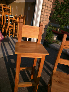 2 Solid Pine  Mexican bar stools