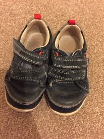 Clarks Navy Boys shoes
