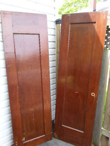 Pair of ANTIQUE VICTORIAN DOORS OLD LOT DECOR